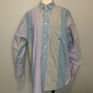 90's VTG Nautica Striped L/S Button Down Size L